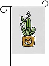 DEZIRO - Bandiera da giardino con cactus su