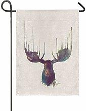 DEZIRO - Bandiera da Giardino con Cervo su