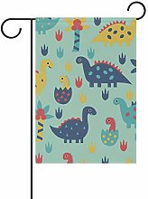 DEZIRO - Bandiera da giardino con dinosauri