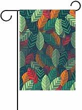 DEZIRO - Bandiera da Giardino con Foglie, su