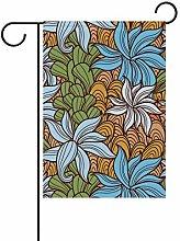 DEZIRO - Bandiera da Giardino con Motivo Floreale