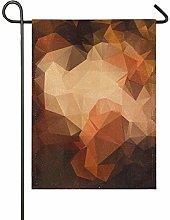 DEZIRO Bandiera da Giardino con Motivo Geometrico