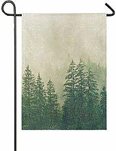 DEZIRO Bandiera da Giardino Forest Fog Yard