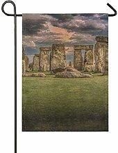 DEZIRO Bandiera da Giardino Stonehenge su Entrambi