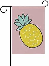 DEZIRO Yummy - Bandiera da Giardino con Ananas su