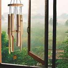 DHYED - Campanelle a vento in legno di bambù,