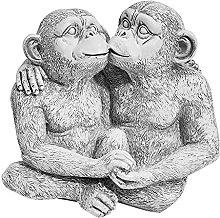 DHYED Creativo Resina Baciare Scimmia Modello