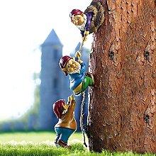 DHYED - Gnomo rampicante in resina, statua nana,