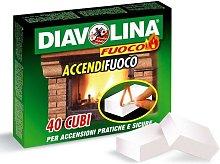Diavolina Accendifuoco 1 Confezione Da 40 Cubetti