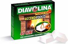 DIAVOLINA Set 24 Accendifuoco X40 per Barbecue E