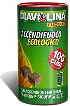 DIAVOLINA Set 6 Accendifuoco X 100 Vaso Ecologica