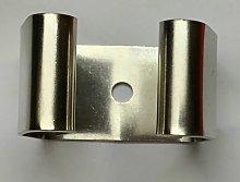 Dimapack - Gancio appendiscopa in metallo cromato