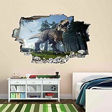 Dinosaur Jungle 3D Adesivo Murale Murale