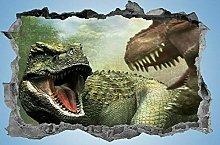 Dinosauro, adesivo, 3d, decalcomania, bambini,