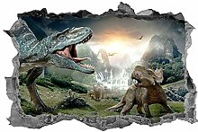 Dinosauro, bambini, adesivo, 3d, decalcomania,