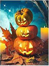 Dipingi con i numeri bambiniZucca di Halloween