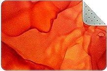 Dipinto arancio, zerbini ingresso porta anteriore