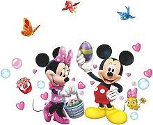 Disney Mickey Mouse Minnie adesivi ragazze camera