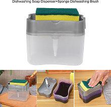 Dispenser di sapone per piatti Spugna Spazzola per
