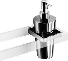 Dispenser in acciaio inox lucido per bagno