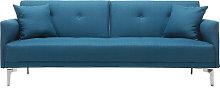 Divano convertibile design 3 posti blu anatra ELIN