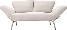 Divano letto design 2 posti beige microfibra ELMER