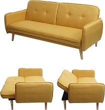 Divano letto sofà HWC-J18 regolabile tessuto 3