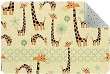 Divertente giraffa, tappeto da cucina, tappetino