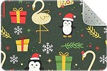 Divertente tappetino natalizio colorato,