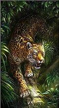 DIY 5D Pittura Diamante Kits Completo Leopardo