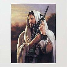 DIY Dipingere con i numeri Gesù Cristo tiene una