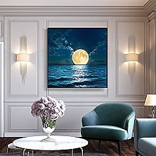 DIY Dipingere con i numeri Seascape Moon Night Art