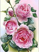 DIY Pittura Diamante Rosa Rosa Kit per Pittura con