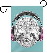 Dj Sloth Ritratto con cuffie divertenti personaggi