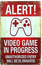 DJNGN Alert! - Poster vintage per videogiochi,