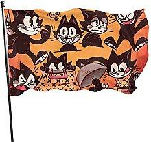 DJNGN Anime Felix The Cat Garden Flag Fashion