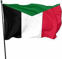 DJNGN Bandiera del Sudan Bandiera 3x5 Ft, insegne