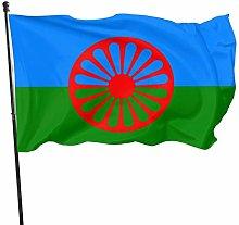 DJNGN Bandiera della Romani Persone Bandiere 3x5