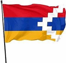 DJNGN Bandiera di Artsakh Flag 3x5 ft, Poliestere