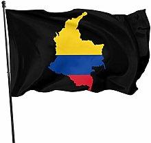 DJNGN Bandiera Mappa della Colombia Bandiere 3x5