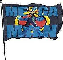 DJNGN Bandiera Megaman Emblem Rockman Decorazioni