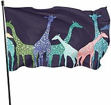 DJNGN Bandiera Stampa Giraffa Bandiera 3x5ft