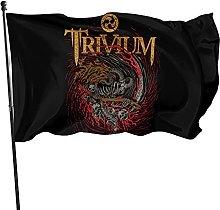 DJNGN Bandiera Trivium 3x5 Piedi da Appendere alla