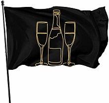 DJNGN Bandiere di Birra Scintillante 3x5
