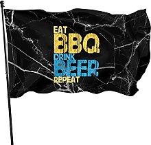 DJNGN Bibita Birra Barbecue Bandiera 3x5 Piede