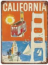 DJNGN California Retro pittura in ferro Targa in