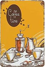 DJNGN Coffee Time Retro pittura in ferro Targa in