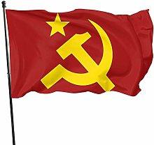 DJNGN Comunismo Hammer Falce Bandiera Bandiera