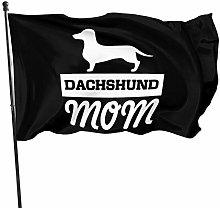 DJNGN DACHSHOND Mom Bandiere 3x5 Outdoor Indoor