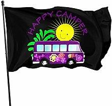 DJNGN Felice Hippie Camper Van Divertente Bandiere